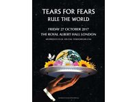 Tears for Fears concert in London Royal Albert Hall 27th October