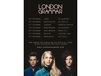 4 x London Grammar standing tickets Monday 23rd October O2 Academy, Birmingham