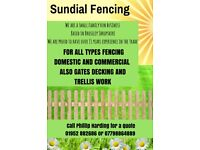 Sundial Fencing Services Shropshire 01952 882686 or 07798864889 for a free quote