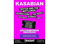 Transmt festival Sat 8 July x 2 Kasabian, Radiohead, Biffy Clyro Glasgow Green
