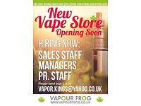 Sales roles / Managers In New Vape Shop Perth