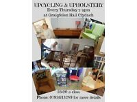 UPCYCLING & UPHOLSTERY CLASS. CLYDACH SWANSEA