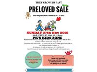 PRE-LOVED BABY AND CHILDREN'S SALE SUNDAY 27th NOVEMBER 2016 Buckingham Town