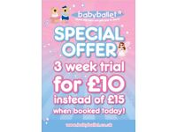 £5 off Three Week Trial at Babyballet Ashford! £10 for Sept bookings! Ballet Class 18 mnths-5 yrs!