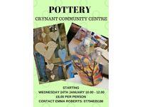 POTTERY CRYNANT COMMUNITY CENTRE