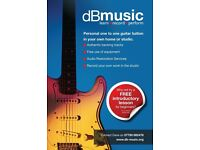 Professional one-to-one guitar tuition.