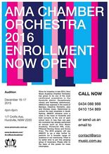 AMA Chamber Orchestra - Hurstville's very First Orchestra Spence Belconnen Area Preview