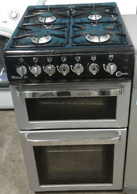 I413 silver flavel 50cm gas cooker comes with warranty can be delivered or collected