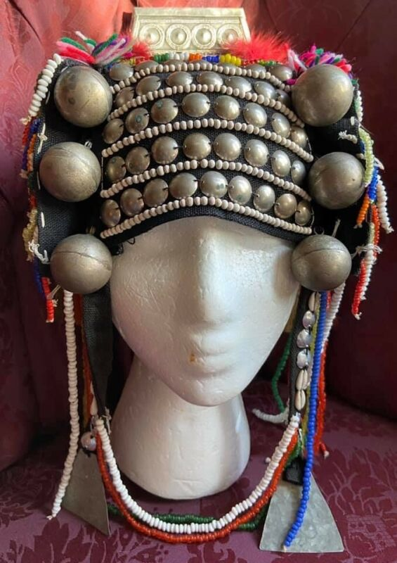 Vintage Thai Akha Hill Tribe Headdress