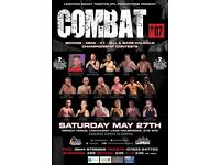 Toe 2 Toe COMBAT Fight League Tickets, May 27th Coventry