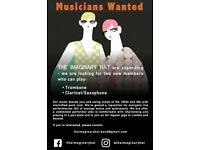 The Imaginary Hat seeks trombone player