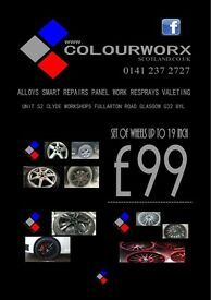 ALLOY WHEELS SET OF FOUR £99