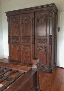 Bedroom Furniture Set - Wardrobe, Bed Base & Side Tables Bulli Wollongong Area Preview