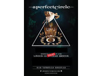 A PERFECT CIRCLE BRIXTON ACADEMY 13 JUNE 2018 x2 FLOOR STANDING TICKETS