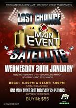 Last Chance Satellite - Poker Wollongong 2500 Wollongong Area Preview