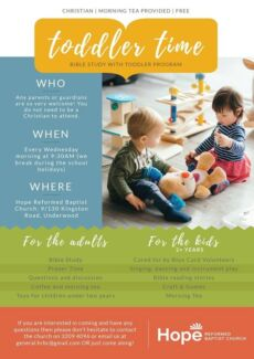 FREE Bible Study with TODDLER PROGRAM and MORNING TEA