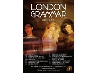 ****London Grammar/Grammer standing tickets, Rock City Nottingham, Thursday 26th October 2017 ****