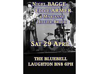 BLUES ,COUNTRY ,ROCK and ROLL .SAT 29.8.30 BLUEBELL PUB NEXT TO THE WOK INN SHORTGATE BN8 6PH