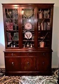 large Vintage Bookcase/Display Dresser