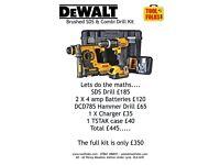 Dewalt SDS & Compact Hammer Drill 2 X 4 amps.