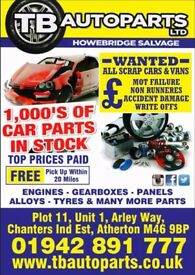 THOUSANDS OF CAR PARTS AVAILABLE
