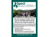 Host families needed urgently in SHREWSBURY and surrounding areas.
