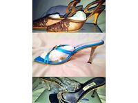 HOT DEALS Womens Ladies Diamond Detail Heels Shoes Size 4 and more sizes