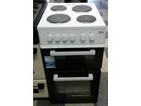j208 white beko 50cm solid ring electric cooker new with manufacturer warranty can be delivered