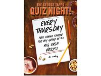 Thursday Quiz @ The George Tapps!