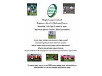 Rugby League Match Officials Course - NSC Blanchardstown, Dublin 15 - Sunday 15 April - FREE
