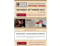 Drum Workshop: Rhythms of the World - Sat 18 March, London Waterloo
