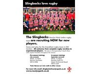 The Rosslyn Park Slingbacks women's rugby team are recruiting new players.