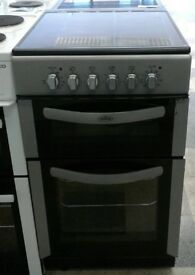 F376 silver belling 50cm double oven double oven cooker with warranty can be delivered or collected
