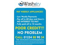 PAY WEELY WASHING MACHINES FROM £90 APPROVED IN MINUTES CAN BE DELIVERED ALL WITH WARRANTY