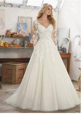 c050New White/ivory  Wedding dress Bridal Gown custom size 2 4 6 8 10 12 -