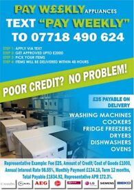 PAY WEEKLY/MONTHLY APPLIANCES FROM £3.65 WITH WARRANTY & DELIVERY
