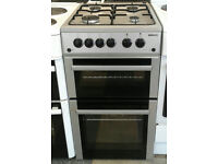 c003 silver beko 50cm double oven gas cooker come with warranty can be delivered or collected