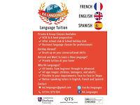Language Tuition: French, Spanish & English
