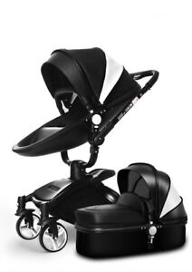 360o degree rotation seat 2 in 1 luxury baby stroller