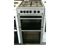 a003 silver beko 50cm double oven gas cooker comes with warranty can be delivered or collected