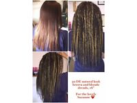 Synthetic/Wool Dreads/Dreadlocks,Fitted And Supplied,Qualified Hair Extension Technician,Mobile