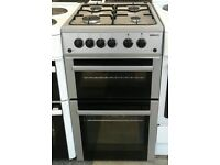b003 silver beko 50cm double oven gas cooker comes with warranty can be delivered or collected