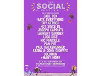 2x Social Festival Tickets Saturday 10th September