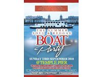 THE SUMMER SOUL & REGGAE BOAT PARTY - LONDON