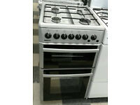 a601 silver beko 50cm double oven gas cooker comes with warranty can be delivered or collected