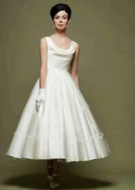 Wedding dress lou lou t-length size 12