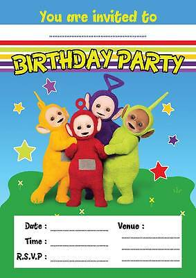 TELETUBBIES CHILDRENS BIRTHDAY PARTY INVITATIONS INVITES KIDS 10,20,30,40,50,60](60 Birthday Invitations)