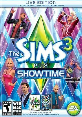 The Sims 3 Plus Showtime Brand New Sealed   Pc  2012