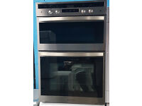 b142 stainless steel rangemaster built in double oven comes with warranty can be delivered