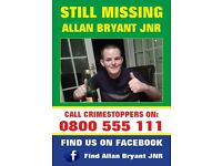 Missing Person Allan Bryant Jnr!